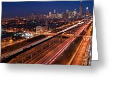 Chicago Illumina Greeting Card