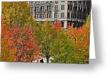 Chicago In Autumn Greeting Card