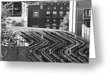Chicago L Tracks Greeting Card
