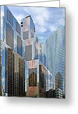 Chicago - One South Wacker And Hyatt Center Greeting Card