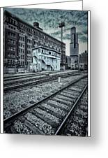 Chicago Rail Station Greeting Card by Donald Schwartz