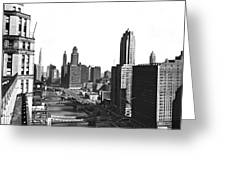 Chicago River In Chicago Greeting Card