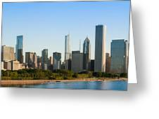 Chicago Skyline At Sunrise Greeting Card