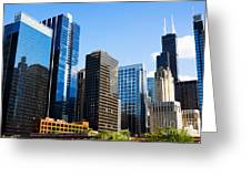 Chicago Skyline Downtown City Buildings Greeting Card