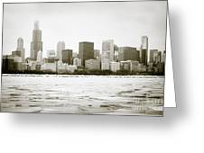 Chicago Skyline In Winter  Greeting Card by Paul Velgos