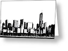 Chicago Skyline Greeting Card by Matthew Formeller