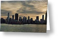 Chicago Skyline Navy Pier Greeting Card