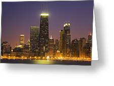 Chicago Skyscrapers With John Hancock Greeting Card