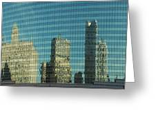 Chicago Window Reflections Greeting Card