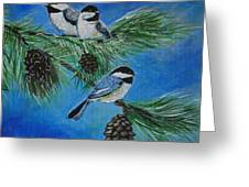 Chickadees Greeting Card