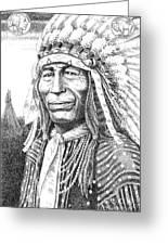 Chief-iron-tail Greeting Card