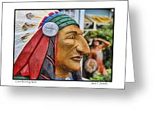 Chief Running Nose Greeting Card