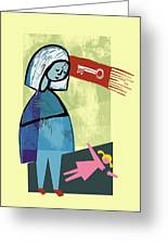 Child Abuse Greeting Card