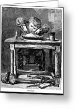 Child Eating, 1875 Greeting Card