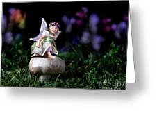 Child Fairy On Mushroom Greeting Card