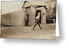 Child Goes To Work At Mill In Alabama - 1910 Greeting Card