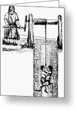 Child Labor, 1842 Greeting Card