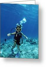 Child Scuba Diver Greeting Card