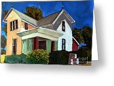 Childhood Home Plein Air Greeting Card by Charlie Spear