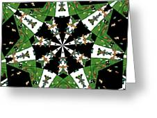 Children Animals Kaleidoscope Greeting Card