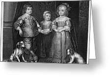 Children Of Charles I Greeting Card