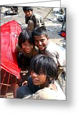 Children Of Labor In India Greeting Card