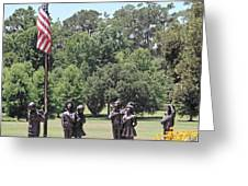 Children Raise The Flag Greeting Card