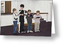 Children Sing Praise Greeting Card