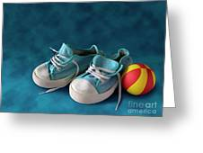 Children Sneakers Greeting Card