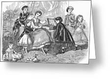 Childrens Fashion, 1868 Greeting Card