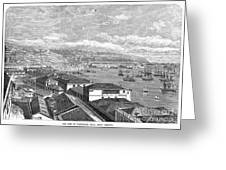 Chile: Valparaiso, 1865 Greeting Card