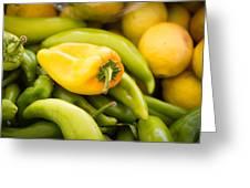 Chili And Lemon Greeting Card