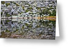 Chimney Pond Reflections Greeting Card