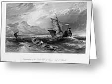 China: Gulf Of Bohai, 1843 Greeting Card