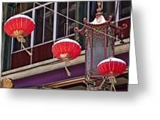 China Town San Francisco Greeting Card by Kelley King
