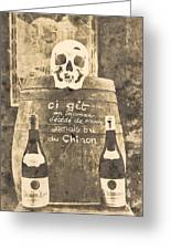Chinon Wine  Greeting Card