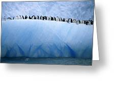 Chinstrap Penguins Lined Greeting Card