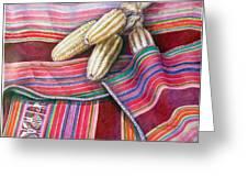 Choclos Entre Aguayos Greeting Card