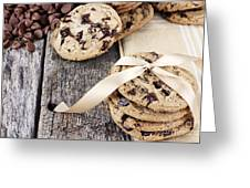 Chocolate Chip Cookies And Chocolate Chips Greeting Card