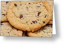 Chocolate Chip Cookies Pano Greeting Card