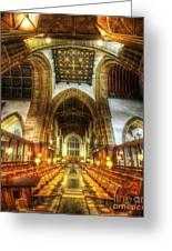 Choir Section Vertorama Greeting Card