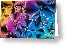 Cholesteryl Benzoate Crystal Greeting Card