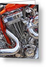 Chopper Engine Greeting Card