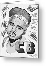 Chris Brown Cb Drawing Greeting Card
