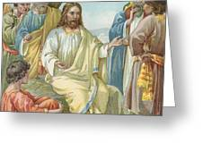 Christ And His Disciples Greeting Card