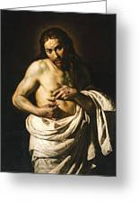 Christ Displaying His Wounds Greeting Card