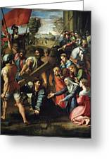 Christ Falls On The Way To Calvary Greeting Card