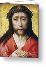 Christ In Crown Of Thorns Greeting Card