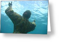 Christ Of The Abyss Greeting Card