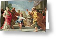Christ Preaching In The Temple Greeting Card